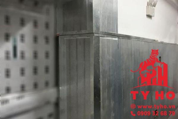Tấm Panel Tiêu âm 3 lớp (tôn + ROCKWOOL + tôn) – dày 75mm