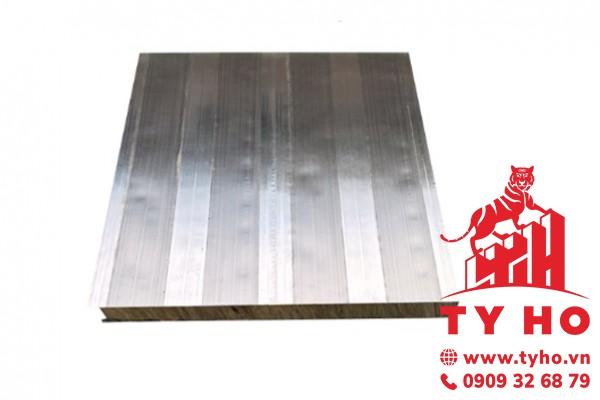 Tấm Panel Tiêu âm 3 lớp (tôn + ROCKWOOL + tôn) – dày 100mm