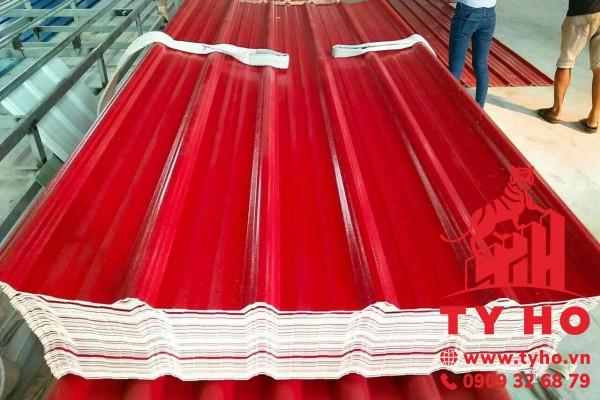 Tôn nhựa PVC 5 sóng vuông